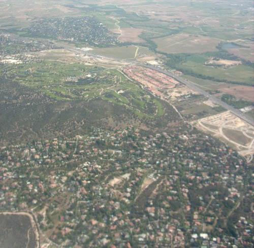 vista aeréa desde avión