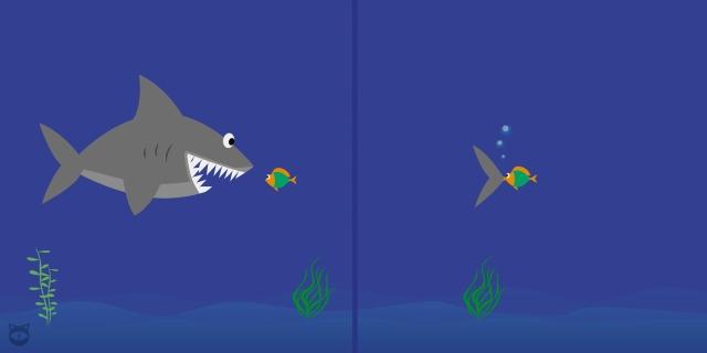 el pez chico se come al grande