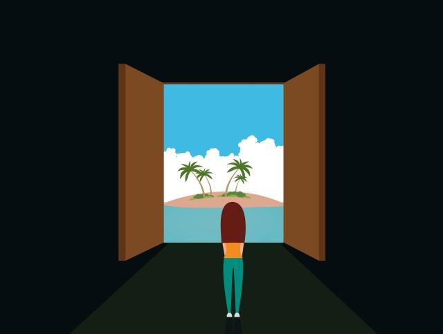 ilustracion la puerta al paraíso
