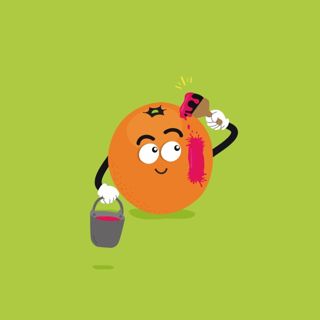 naranja animada