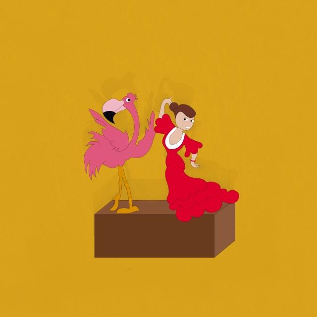 baile flamenco con textura